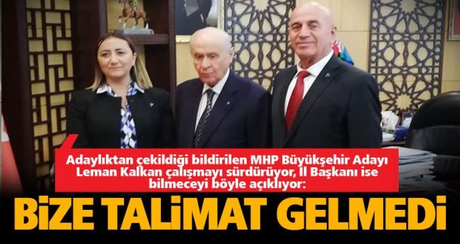 Adaylıktan çekildiği ileri sürülen MHP'li aday çalışmayı sürdürüyor