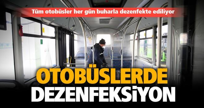 Büyükşehir otobüsleri her gün temizleniyor