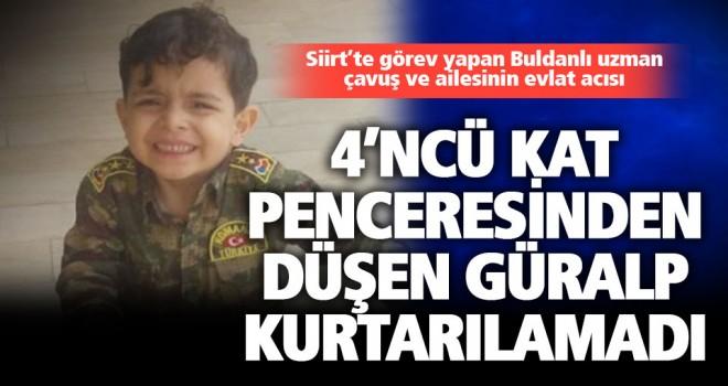 Buldanlı 4 yaşındaki Güralp 4'ncü kattan düşüp öldü