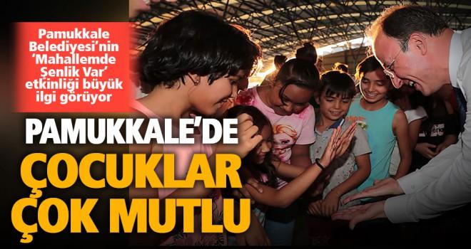 Pamukkale'de çocuk şenlikleri sürüyor