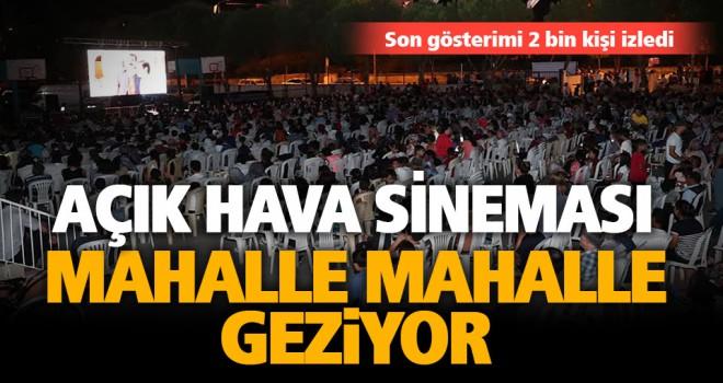 Mehmet Akif Ersoy Mahallesi sakinlerinin ayağına sinema geldi