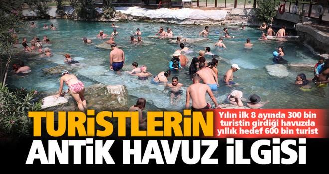Yılın ilk 8 ayında antik havuza 300 bin turist girdi