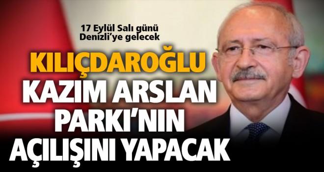 Kılıçdaroğlu, Salı günü Kazım Arslan parkının açılışını yaptı