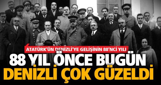 Büyük Önder Atatürk'ün Denizli'ye gelişinin 88. yılı anıldı