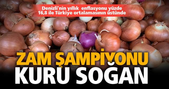 Denizli'nin yıllık  enflasyonu yüzde 16,8 ile Türkiye ortalamasının üstünde