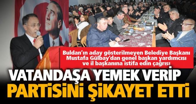 Buldan Belediye Başkanı, partisi CHP'yi vatandaşa şikayet etti