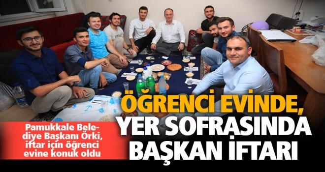Pamukkale Belediye Başkanı Örki, orucunu öğrencilerle açtı