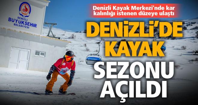 Denizli Kayak Merkezi'nde kayak sezonu açıldı