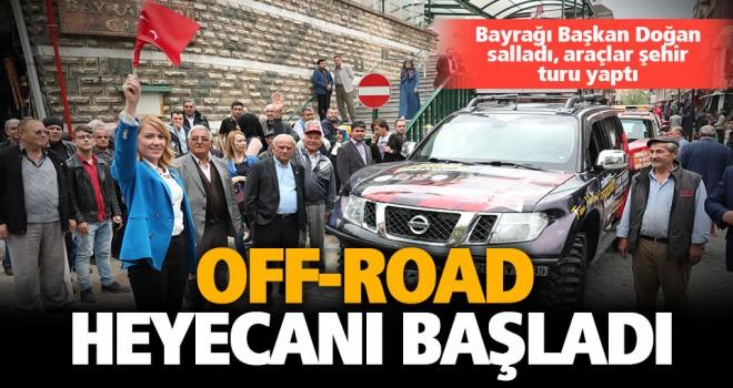 Off-Road şampiyonasında bayrağı Başkan Doğan salladı