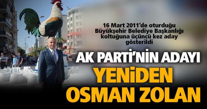 Denizli'de Ak Parti'nin adayı mevcut başkan Zolan oldu