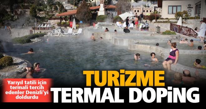 Açık termal havuzlar kışı yaz havasına dönüştürüyor