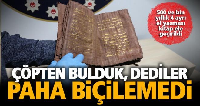 Paha biçilemeyen tarihi 4 kitapla yakalanan şüpheliler tutuklandı