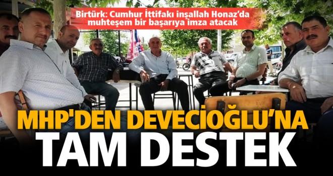 MHP'den Devecioğlu'na tam destek