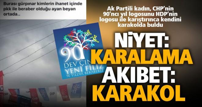 CHP'nin logosunu karıştıran Ak Partili karakolluk oldu