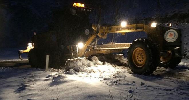 Yüksek kesimlerde karla mücadele başladı