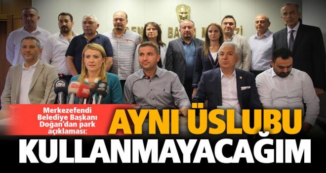 Merkezefendi Belediye Başkanı Şeniz Doğan'dan 'park' açıklaması