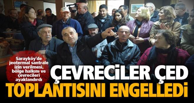 Sarayköy'de yapılmak istenen JES için çevreciler ayaklandı