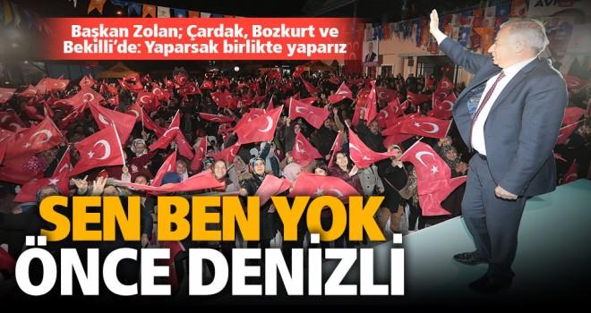 Başkan Zolan; Çardak, Bozkurt ve Bekilli'de: Yaparsak birlikte yaparız