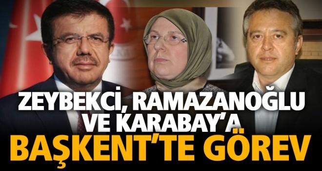 Zeybekci, Ramazanoğlu ve Karabay'a Ankara'da görev