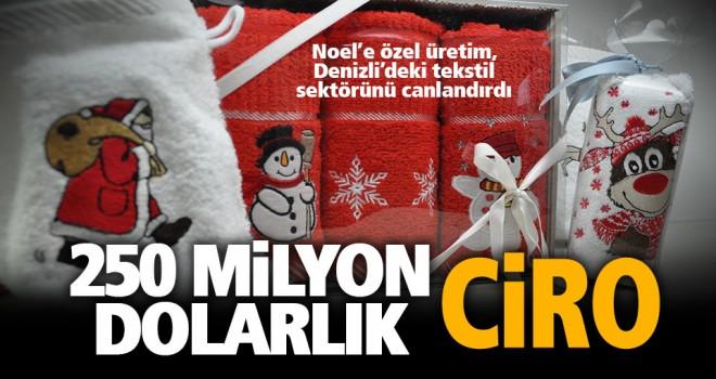Denizli'den Avrupa'ya Noel babalı havlu, bornoz ihracatı