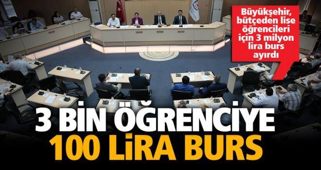 Büyükşehir'den 3 bin öğrenciye 3 milyon TL