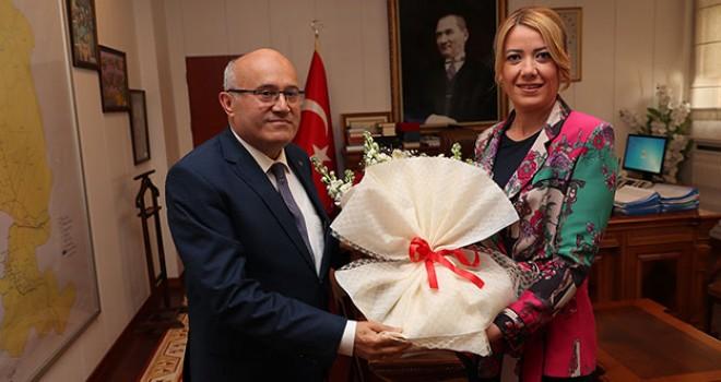 Doğan, Kaymakam Balcıoğlu'nu ziyaret etti