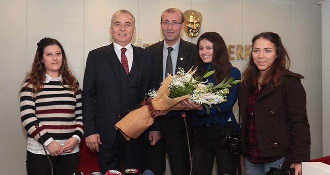 Büyükşehir Belediye Başkanı Osman Zolan'dan Gazeteciler Cemiyeti'ne ziyaret