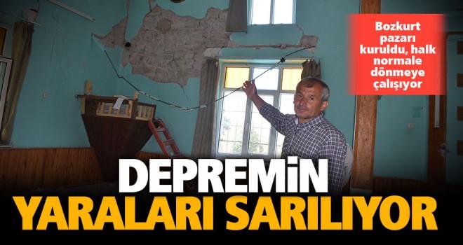 Bozkurt'ta depremin yaraları sarılıyor