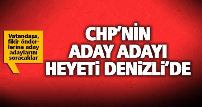 CHP'nin aday adayı heyeti Denizli'de