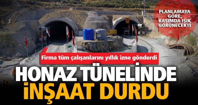Honaz tünelinin inşaatı durdu