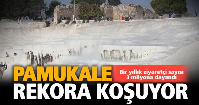 Pamukkale'de ziyaretçi rekoru