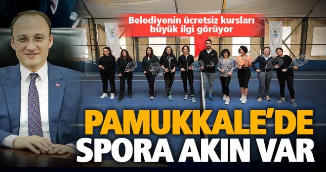 Pamukkale Belediyesi'nin ücretsiz spor kursları büyük ilgi görüyor