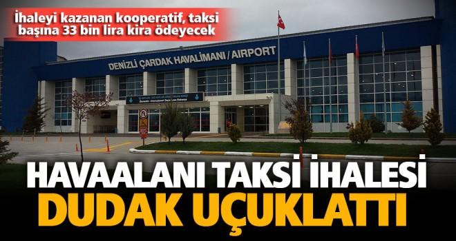Havaalanında taksi sorunu çözüldü, ihalede rekor ücret geldi