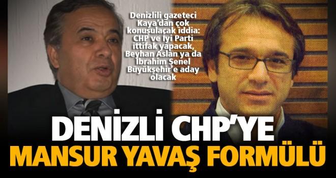 Denizli CHP için şok iddia: Büyükşehir adayı 'sağdan' olacak