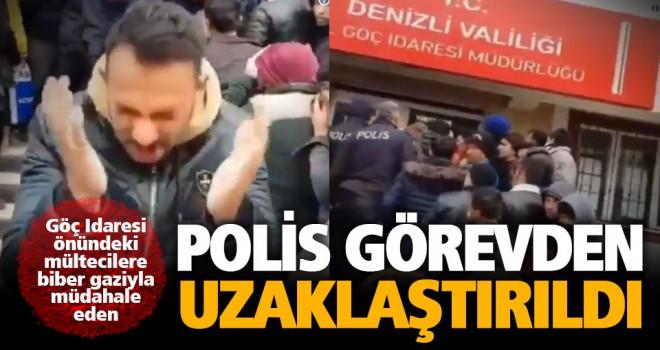 Göçmenlerin arbedesine müdahale eden polis görevden uzaklaştırıldı