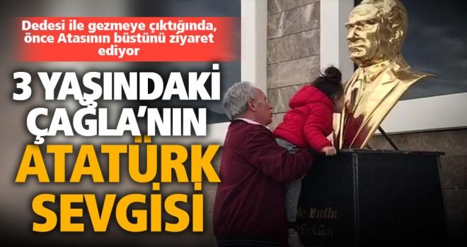 3 yaşındaki Çağla'nın Atatürk sevgisi