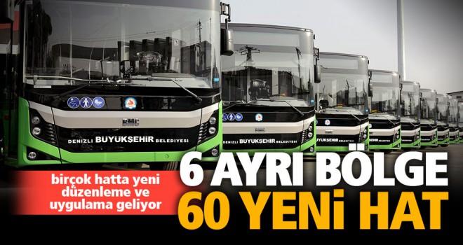 Büyükşehir otobüsleri ile 6 ayrı bölgeye 60 yeni hat geliyor
