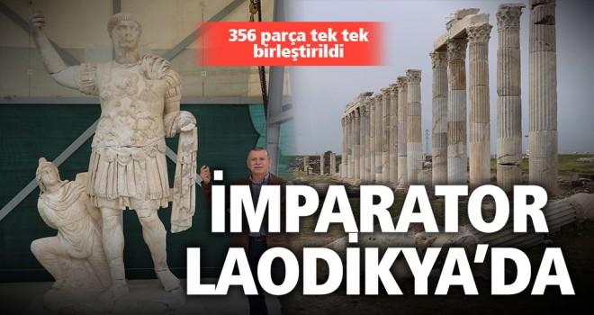 Laodikya'da imparator Traian'ın zırhlı heykeli bulundu