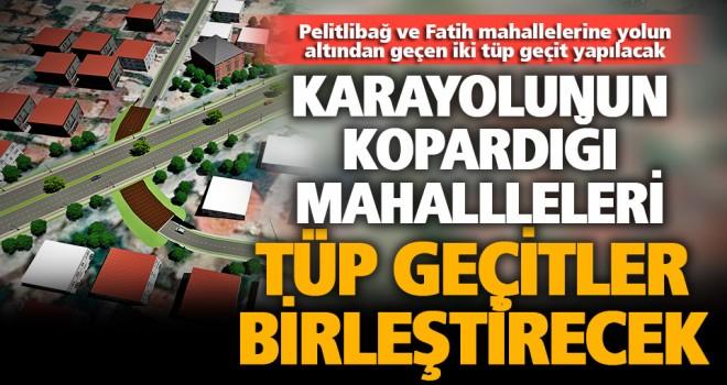 Antalya yolunun altına iki tüp geçit