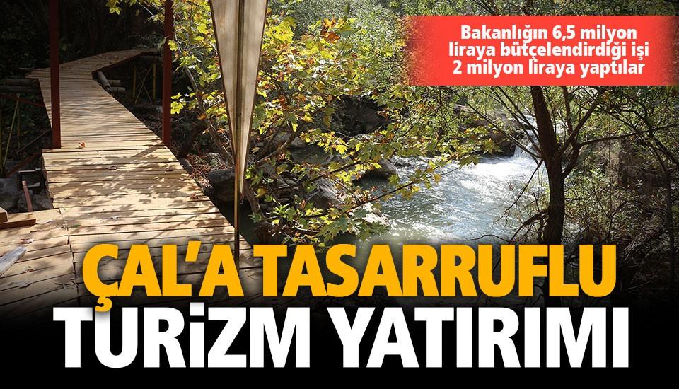 Çal Belediyesi, kanyona yürüyüş yolları yapıyor