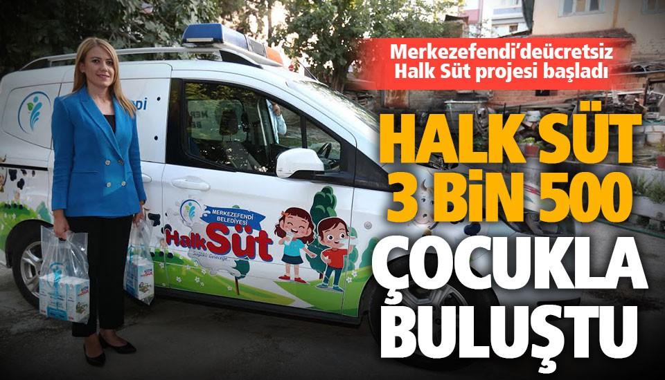 Merkezefendi Belediyesi'nin ücretsiz süt projesi başladı