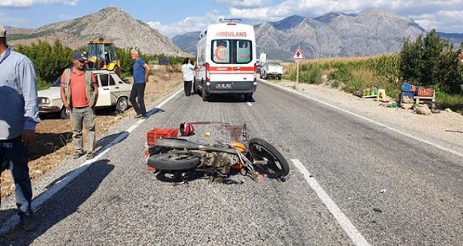 Motosikletiyle kaza yapan imam, kurtarılamadı