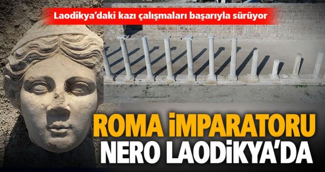 Roma İmparatoru Nero'nun heykeline ait mermer baş bulundu