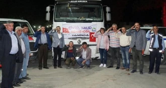 Çivril'den harekat bölgesine 20 ton elma
