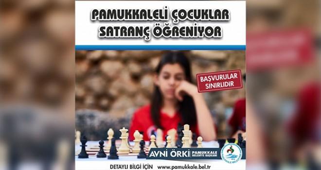 Pamukkale Belediyesi'nden 7-12 yaş çocuklar için satranç kursu