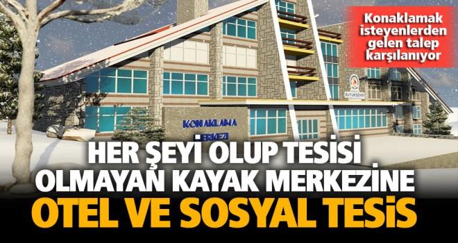 Denizli Kayak Merkezi'ne otel ve sosyal tesis