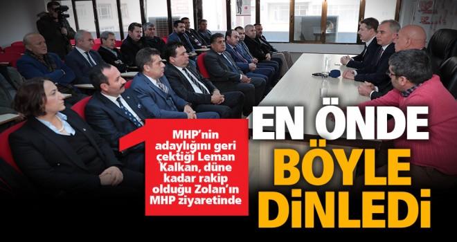 Başkan Zolan ve AK Parti İl Başkanı Filiz MHP'yi ziyaret etti