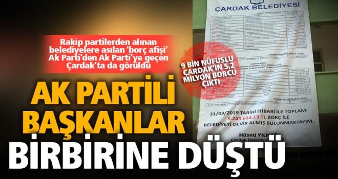 Ak Partili başkandan, eski Ak Partili başkana 'borç afişli' gönderme