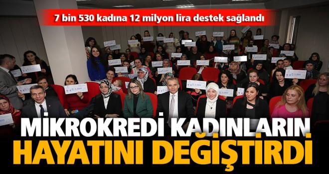 7 bin 530 kadına 12 milyon lira destek sağlandı