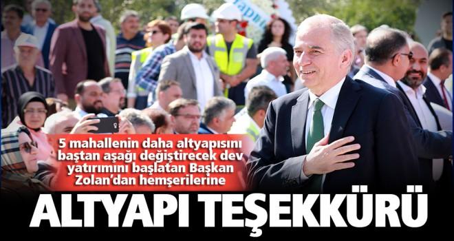 Başkan Osman Zolan'dan hemşerilerine altyapı teşekkürü